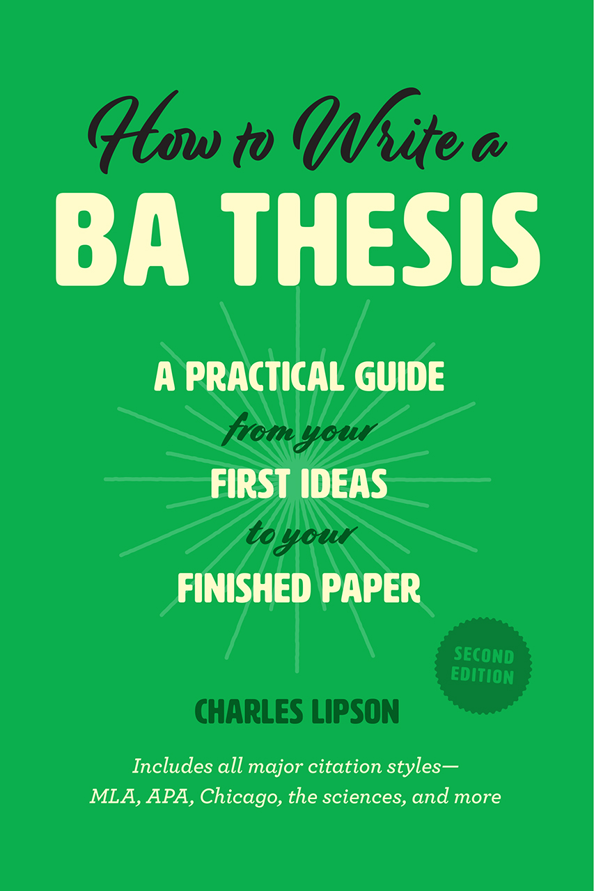Cover image for Lipson, How to Write a BA Thesis, Second Edition