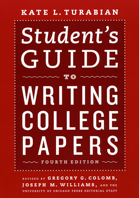 Book cover for Kate L. Turabian, Student's Guide to Writing College Papers