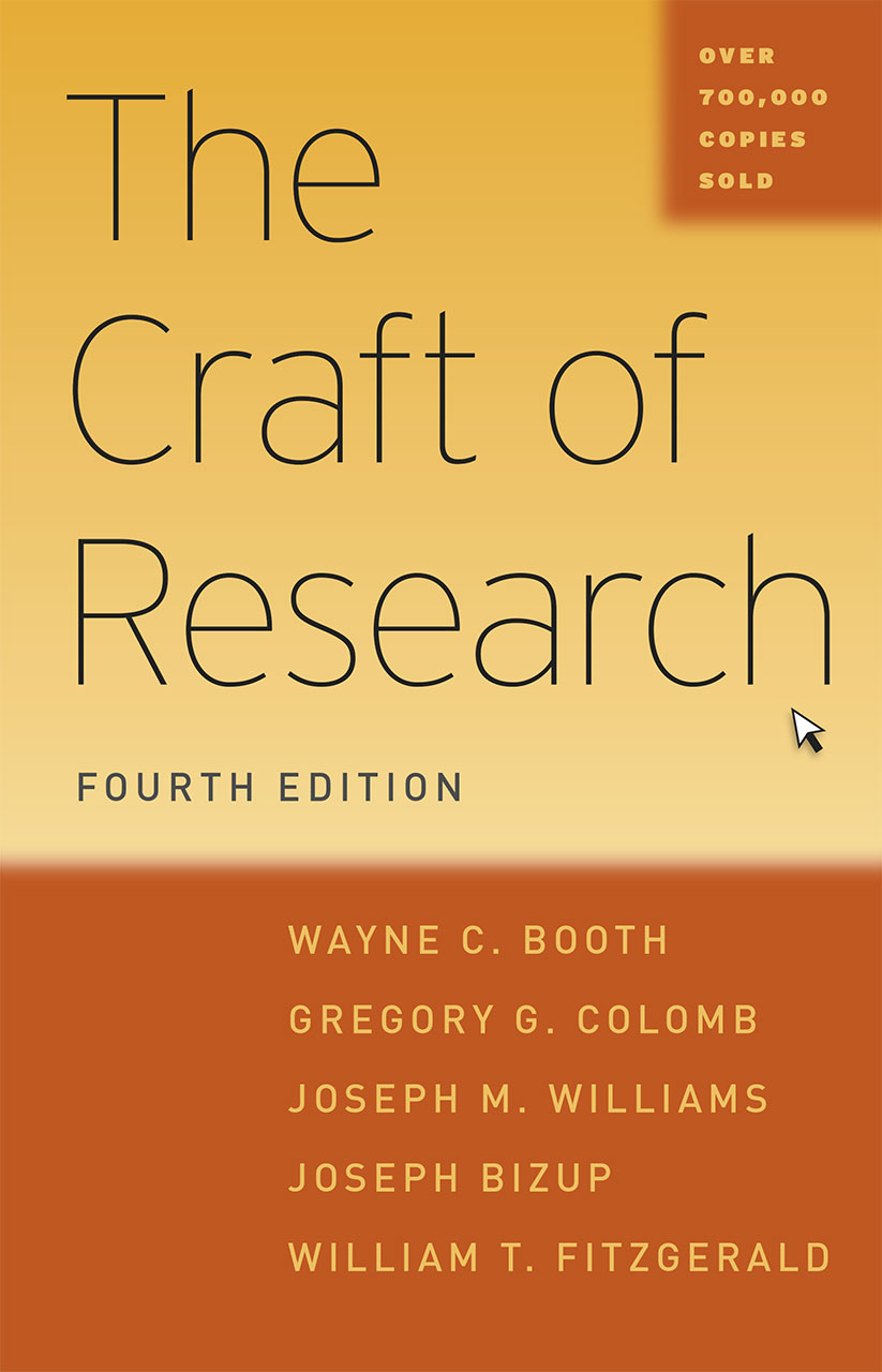 Book cover for The Craft of Research, Fourth Edition